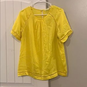 Yellow top by Violet and Claire